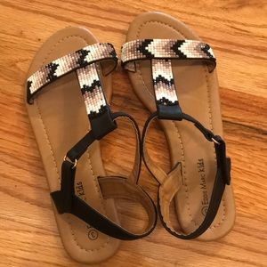 Eddie Marc Kids Shoes - Girls beaded sandals